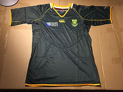 Canterbury South Africa SA Rugby Springboks World Cup 2011 Jersey Size L NWOT