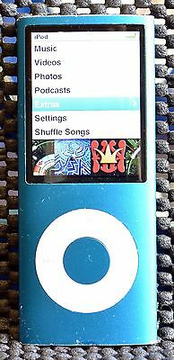 Apple iPod Nano 4th Generation Blue (8 GB) - Free Post