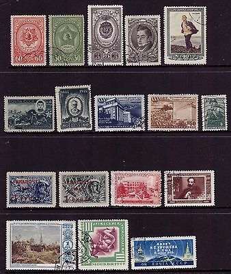 Russia 1944-1957 CCCP USSR stamps OLD CTO Used Rare Mix Sets