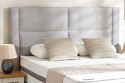 Cape Designer Headboard Bed Head In Leather, Chenille, Suede, Crushed Velvet