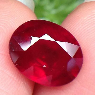 4.15ct Oval Top Quality Gemstone Natural Top Blood Red Ruby Madagascar (VDO)