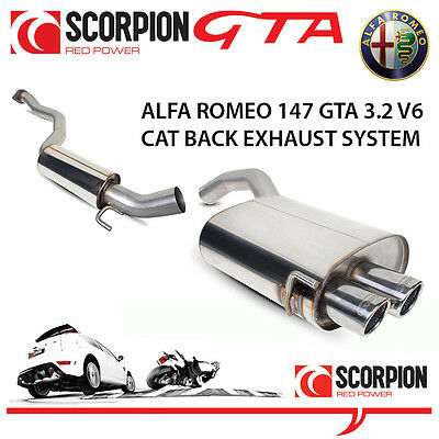 Alfa Romeo 147 GTA Scorpion Cat Back Performance Exhaust System Stainless Steel