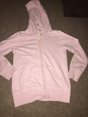 Girls Pink Hooded Top Age 9