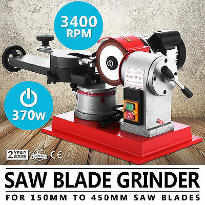 370W Circular Saw Blade Grinder Sharpener Machine Wood Mill Grind Multi Angle