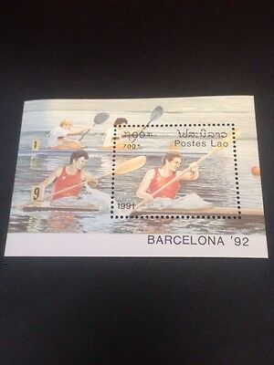 LAOS 1991 OLYMPIC GAMES BARCELONA (1992) (3rd Issue) U/M M/S