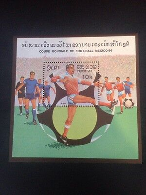 LAOS 1986 WORLD CUP FOOTBALL CHAMPIONSHIP MEXICO (2nd Issue) U/M M/S