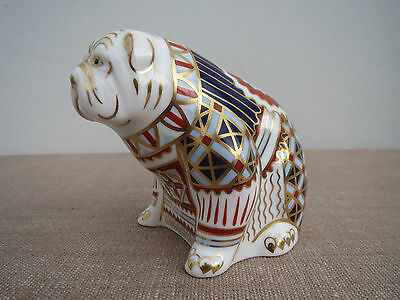 Royal Crown Derby, Bulldog Bull Dog, Paperweight, Gold Stopper