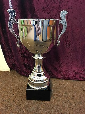 Huge Savings- Extra Large Silver Cup Trophy- Free Engraving
