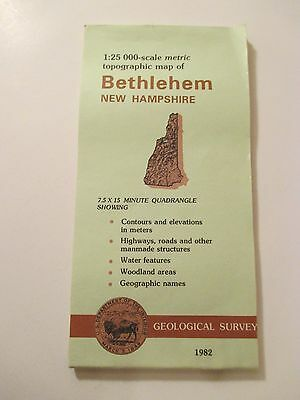 1982 BETHLEHEM NEW HAMPSHIRE Topographic Map Geological Survey