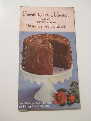 1968 HERSHEY'S COCOA CHOCOLATE TOWN CLASSICS Recipes Advertise Brochure Pamphlet