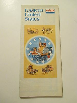Vintage 1977 EXXON Eastern United States Oil Gas Service Station Road Map