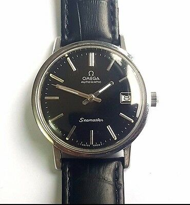 SWISS VINTAGE OMEGA SEAMASTER DATE STAINLESS STEEL WRIST WATCH Cal 1010