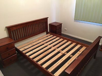 Queen Size Solid Timber Bed Frame