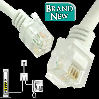 RJ11 to RJ11 ADSL2+ High Speed Broadband Modem Internet Router Phone Line Cable