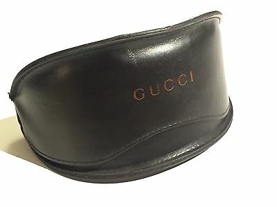 Gucci 100% Genuine Large Leather Blackburn Sunglasses Case