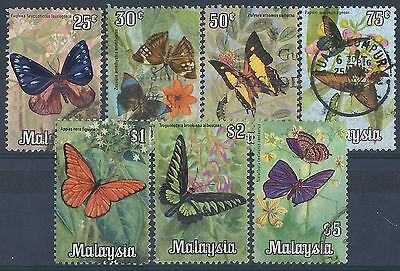 M088) Malaysia. 1970. Used. SG 64 to 70. Butterflies
