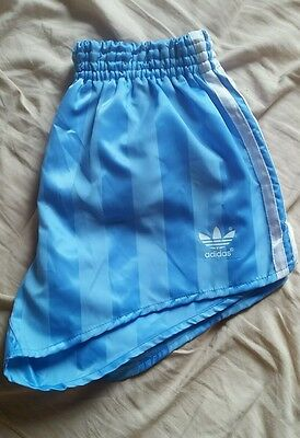 "adidas football shorts size small 30""/34""(d5) vintage retro casual ibiza"
