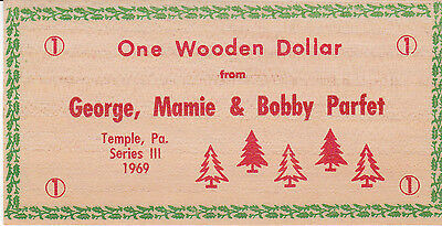 One Wooden Dollar From 1969