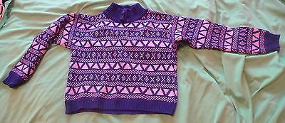 Vintage Jungen acryl Pullover 1980s - made in Romania