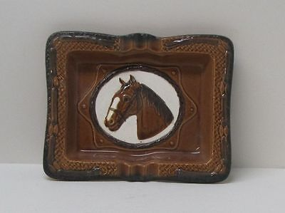 Ceramic Horse Head Ashtray Large Size Made in Japan