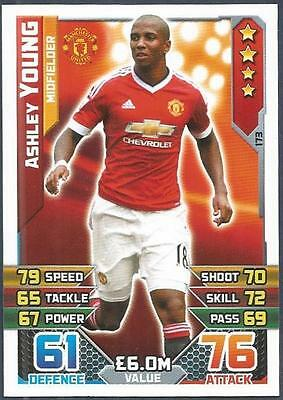 Topps Match Attax 2015-16- #173-Manchester United-Ashley Young