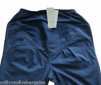 New Womens Blue NEXT Maternity Trousers Size 14 12 10 8 Long Regular RRP £30