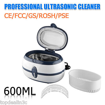 Multi Purpose Stainless Steel Ultrasonic Cleaner Jewellery Glasses Cleaning New