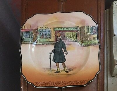 Royal Doulton Dickens Ware Mr. Micawber Square B&B Plate Signed Noke D 6327