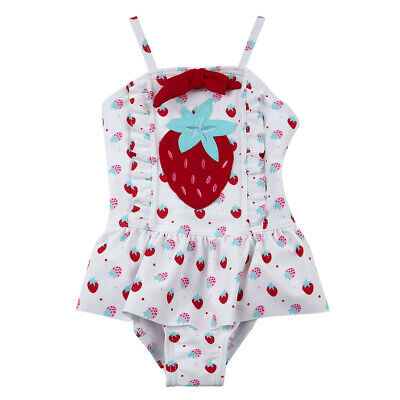 Baby Girls Toddler Swimming Costume Swimwear 3-24 Months Strawberry By BABYTOWN