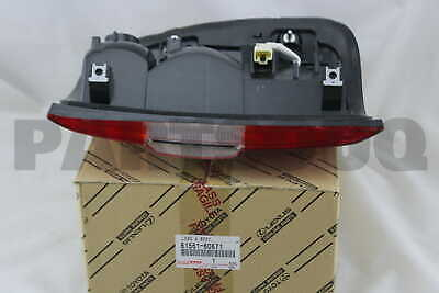 8156160671 Genuine Toyota LENS & BODY, REAR COMBINATION LAMP, LH 81561-60671