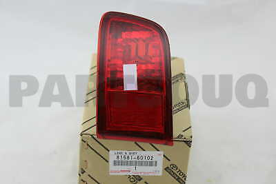 8158160102 Genuine Toyota LENS AND BODY, REAR LAMP, RH 81581-60102