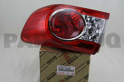 8155112A30 Genuine Toyota LENS & BODY, REAR COMBINATION LAMP, RH 81551-12A30