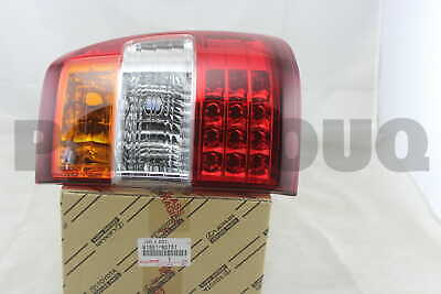 8155160751 Genuine Toyota LENS & BODY, REAR COMBINATION LAMP, RH 81551-60751