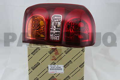 8156142040 Genuine Toyota LENS & BODY, REAR COMBINATION LAMP, LH 81561-42040