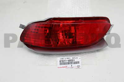 8191148031 Genuine Toyota LENS & BODY, REAR FOG LAMP, RH 81911-48031