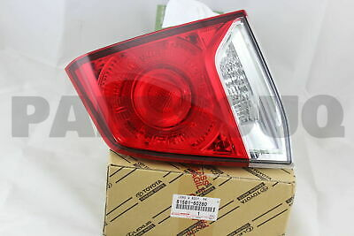 8158160280 Genuine Toyota LENS AND BODY, REAR LAMP, RH 81581-60280