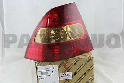 815611E160 Genuine Toyota LENS, REAR COMBINATION LAMP, LH 81561-1E160
