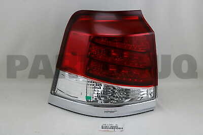 8156160A50 Genuine Toyota LENS & BODY, REAR COMBINATION LAMP, LH 81561-60A50