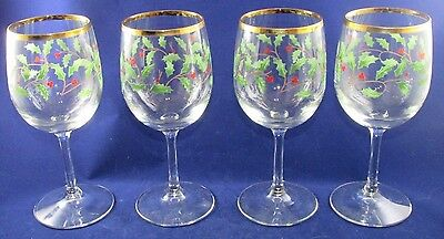 Lenox Holiday Goblet Wine Glass Set of 4 with Box