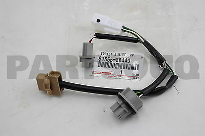 8155526440 Toyota SOCKET & WIRE SUB-ASSY, REAR COMBINATION LAMP, RH/LH