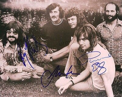 Moody Blues PERSONALLY SIGNED 10x8 Official Vintage Photo by Hayward/Edge/Thomas