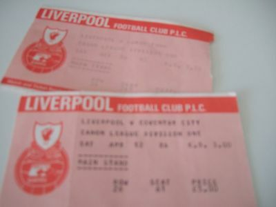 Liverpool double year 85/6 tickets