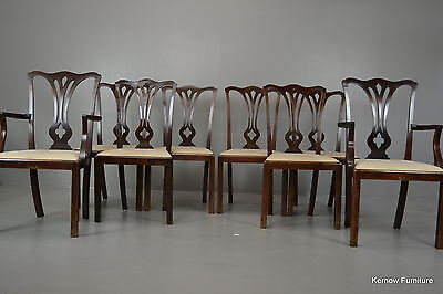 Set 8 Chippendale Style Mahogany Dining Chairs