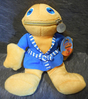 "Official ZIPPY 8"" Soft Toy Plush in Blue Dressing Gown RAINBOW Collectable NWT"