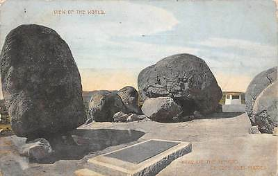 Zimbabwe Rhodesia, view of the World, Remains of Cecil John Rhodes 1913