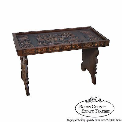 Hand Crafted Mayan Style Table from Honduras circa 1950s