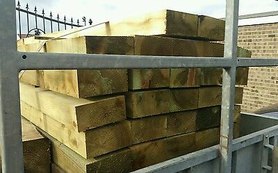 RAILWAY SLEEPERS landscaping softwoods 2.6m x 200 x 100