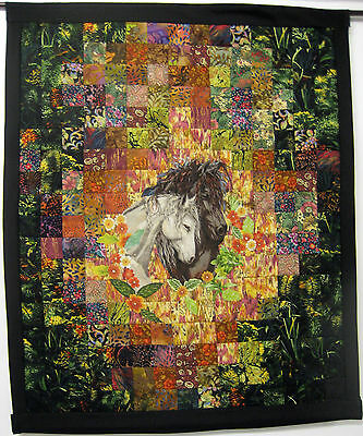 "Horse/Quilted Wall Hanging/ /24"" x 30""/Signed"