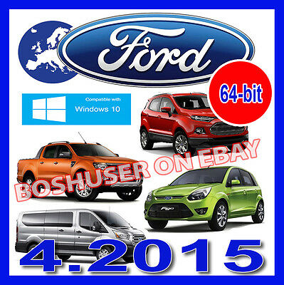 64-bit FORD EPC 04/2015 PARTS CATALOGUE CARS+VANS TEILEKATALOG TRANSIT KUGA FIGO