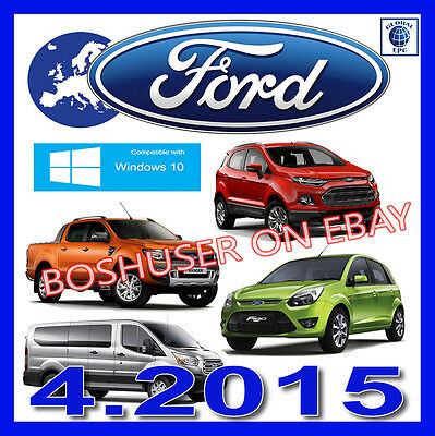 04/2015 Ford Epc Parts Catalogue Cars+Vans Teilekatalog Transit Kuga Figo